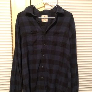 Heritage American Eagle navy blues & black flannel